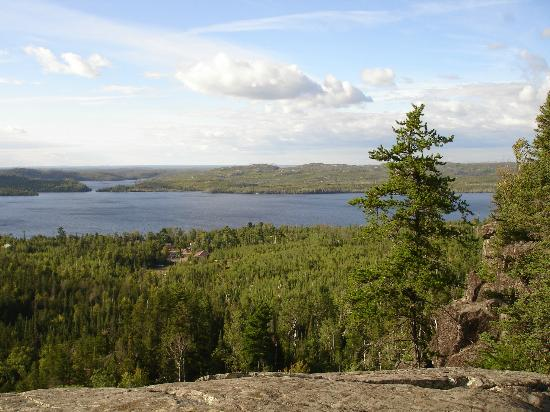 Gunflint Pines Resort & Campgrounds: Gunflint Lake from above view