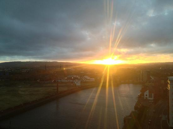 Hilton Belfast: Dawn over the Lagan River