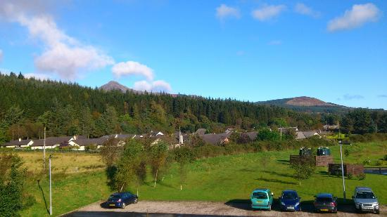 Auchrannie Spa Resort: View of Goat Fell from room on 3rd floor of Spa Resort