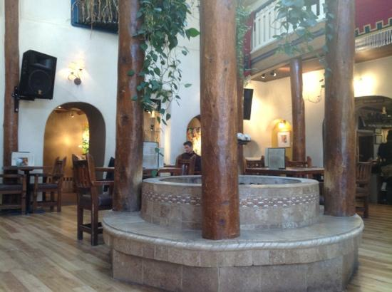 The Historic Taos Inn: main center room