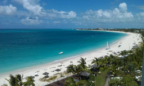 Grace bay taken from our balcony picture of seven stars for Five star turks and caicos