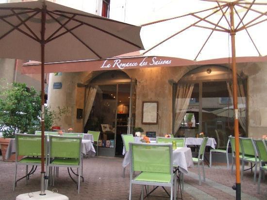La Romance des Saisons : Terrasse du restaurant