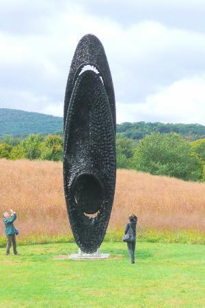 Storm King Art Center: This one's made of tiny bits of cut-up tires!
