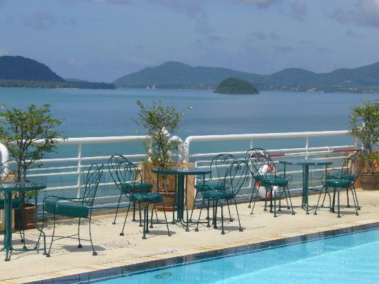 Kantary Bay, Phuket: view from roof top pool