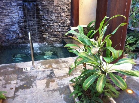 Spa Montage: waterfall indoor