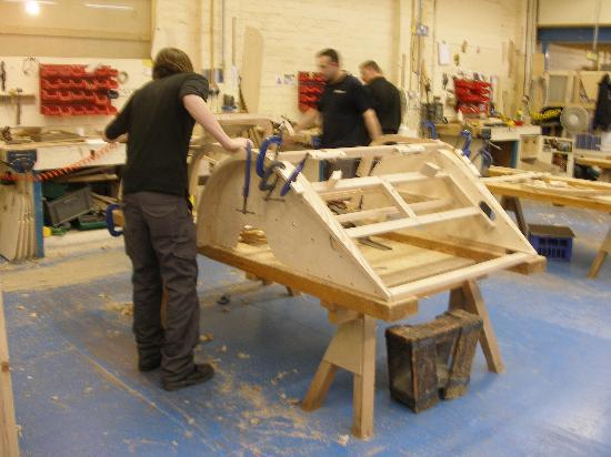 Great Malvern, UK: The wood frame takes shape.