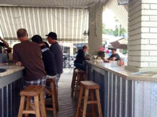 Brix Corner Oven: back to back bars under the awning