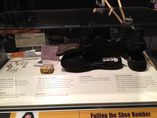 Newseum: Shoe bomb