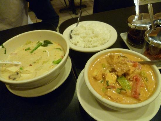Thai Time: Tom Kha soup, Panang Curry with tofu