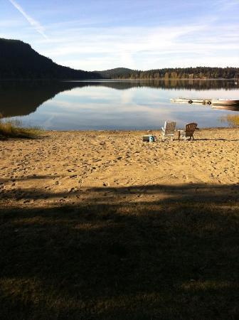 St Mary Lake Beach at Cedar Beach Resort