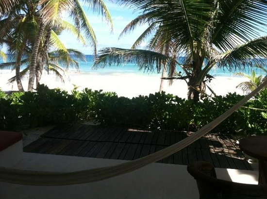 Hotel Cabanas Tulum: View from the doorway