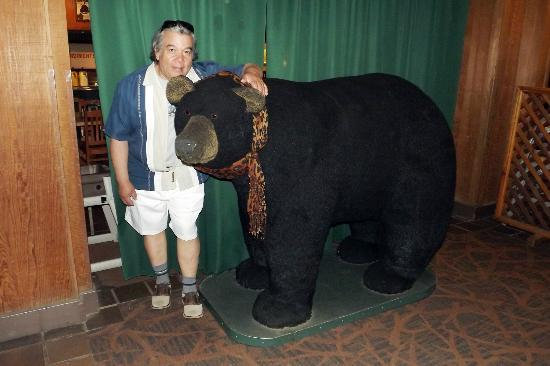 Half Dome Village: A big stuffed bear in the dining hall