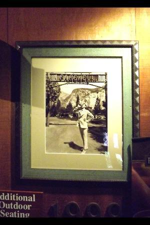Half Dome Village: One of the vintage photos in the dining hall...my husband tried to copy it as we left!