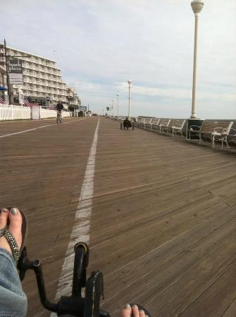 Holiday Inn Hotel & Suites Ocean City: The boardwalk on bike ride.. 6 dollars and had a blast