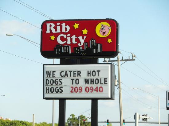 Rib City: Sign out front 13181 N Cleveland Ave N Fort Myers FL