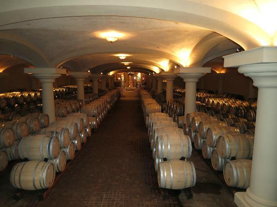 Ferrari-Carano Winery: barrels of wine