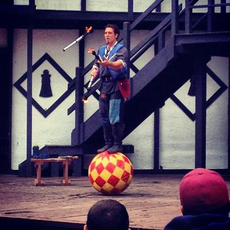 Mount Hope Estate & Winery, home of the Pennsylvania Renaissance Faire: Juggler with fire