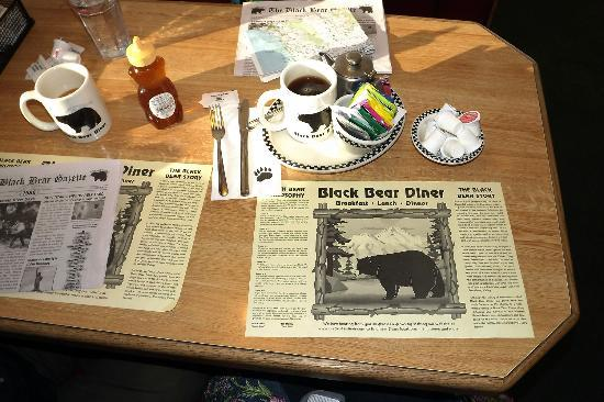 Black Bear Diner: We loved the black bear theme. They were even on the sugar packets!