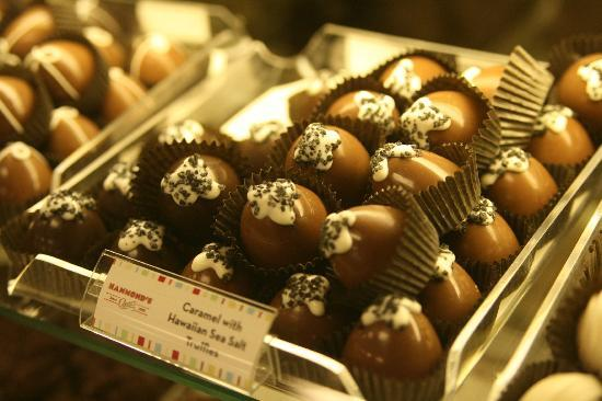 Hammond's Candy Factory: salted caramel truffle