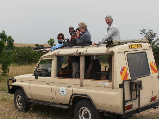 Mara Eden Safari Camp: The group looking out for the Big Five.