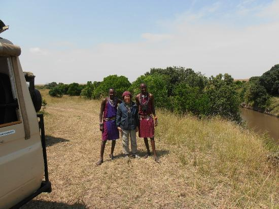 Mara Eden Safari Camp: Winnie with the Masai guides
