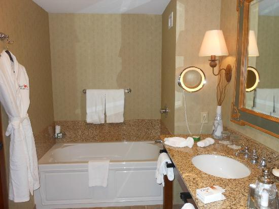 The Lodge and Spa at Callaway Gardens: Bathroom tub & sink area