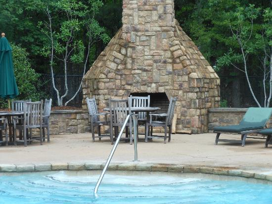 The Lodge and Spa at Callaway Gardens: Pool fireplace
