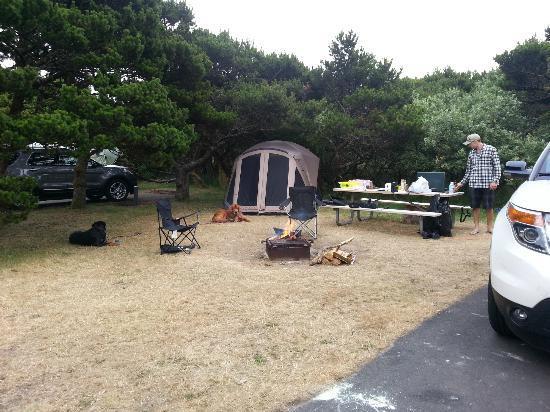 Nehalem Bay State Park: our campsite