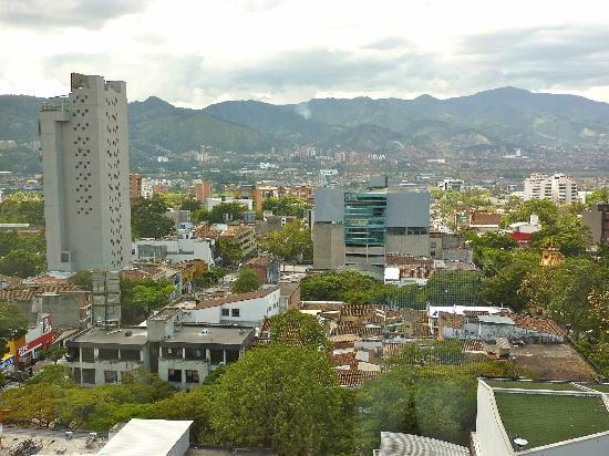 Diez Hotel Categoria Colombia: view of Poblado and mountains from guest room