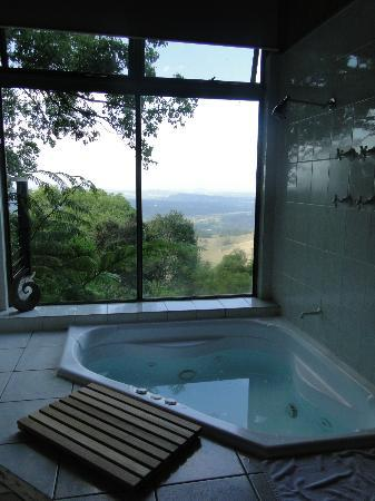Treetops Seaview: View from the spa..