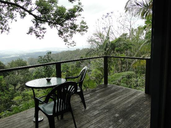 Treetops Seaview : The verandah view..