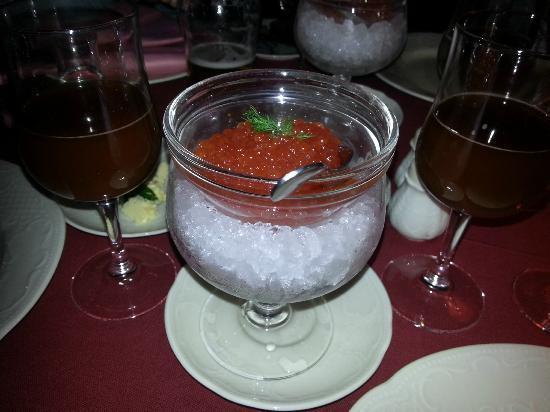 C.D.L. Restaurant : Caviar rouge