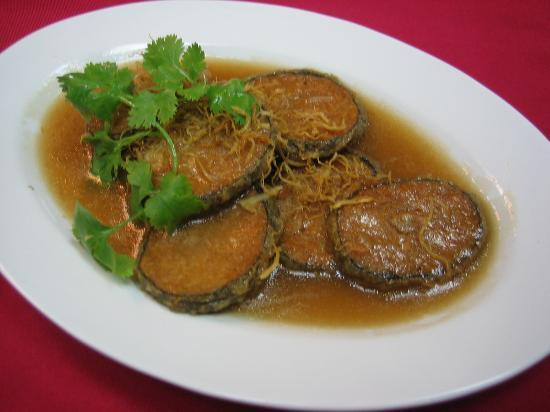 Zhu Yuan Vegetarian Restaurant : 姜丝香余 Ginger vegetarian Fish