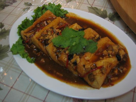 Zhu Yuan Vegetarian Restaurant : 乡村豆府 Villiage Tou fu