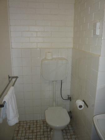 The Albany: Cinderblock Bathroom, leaky pipes and fresh poo waiting
