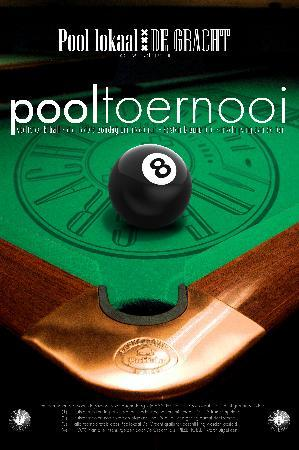Poollokaal De Gracht: in house tournament, every wednesday and sunday