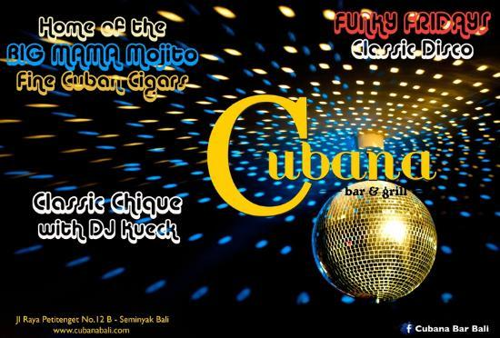 Funky Friday - Picture of Cubana Bar and Grill, Seminyak