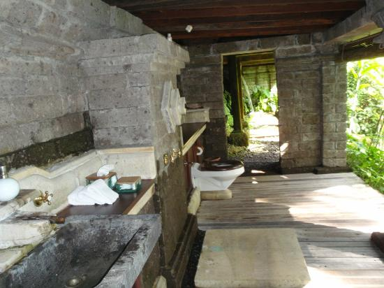 COMO Shambhala Estate, Bali: Bathroom at the spring fed pool