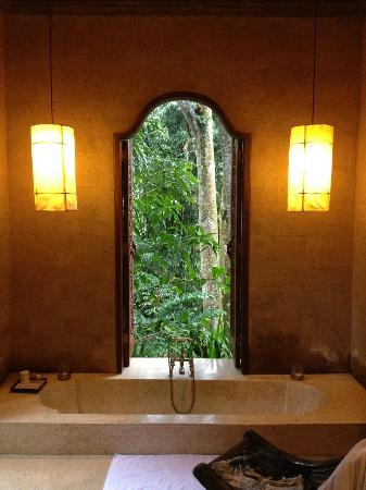 COMO Shambhala Estate: view from my shower !