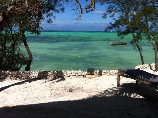 Seasons Lodge Zanzibar: The bed-view