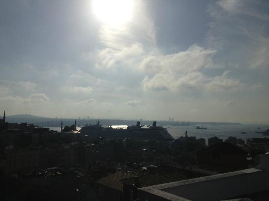 4Floors Istanbul: view from roof top terrace (penthouse)