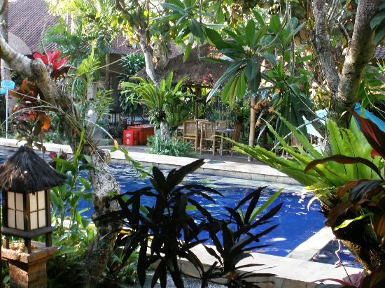 Sanur Beach Villas: Pool and breakfast area
