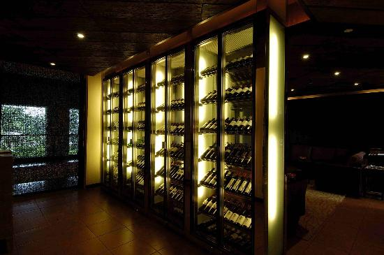 La Cucina - An exclusive floor to ceiling wine library displaying heritage and new world wines