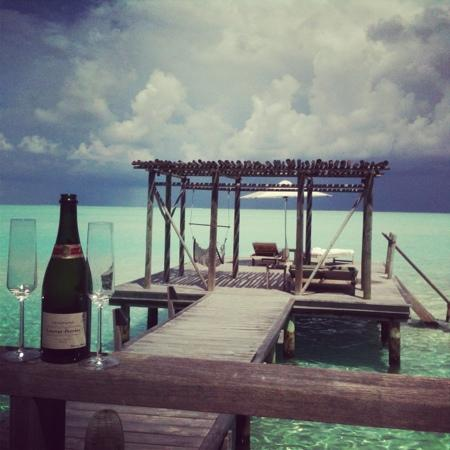 Cocoa Island by COMO: The bottle of Champagne did not last long!