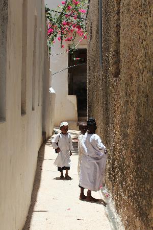 Baytil Ajaib: Street near the hotel