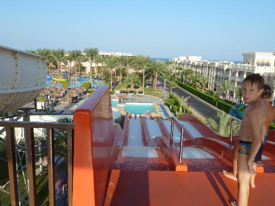 Ausblick Rutsche Bild Von Beach Albatros Resort Hurghada