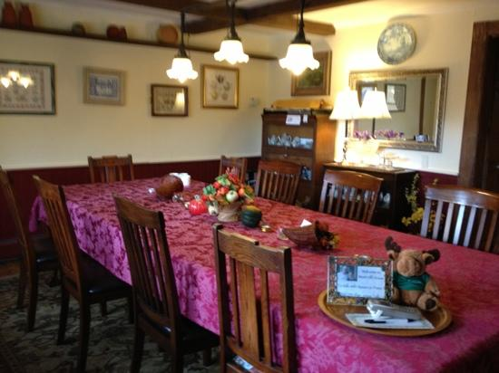 West Hill House B&B: where we ate breakfast