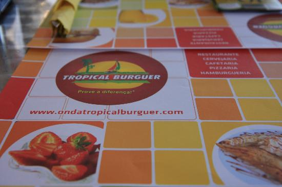 Eurostars Oporto: Tropical Burguer indoor/outdoor snack bar