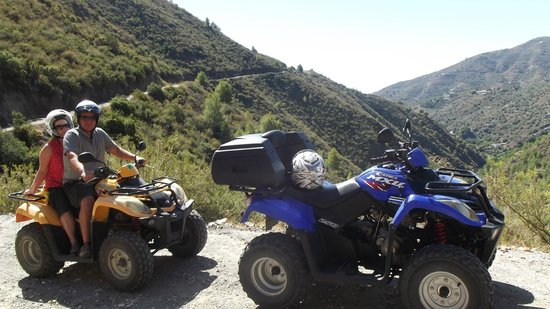 Nerja Quad Tours: quick break to take in the scenery