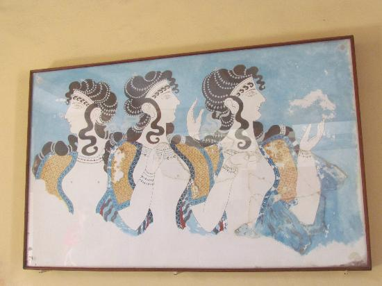 The Palace of Knossos: Ladies in blue